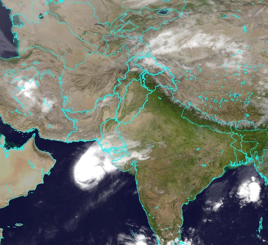 Karachi weather satellite map
