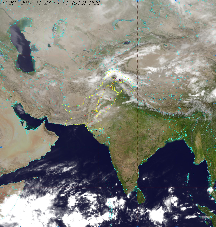 وضعیت قرار گیری توده های ابر بر روی جنوب آسیا و ایران +عکس